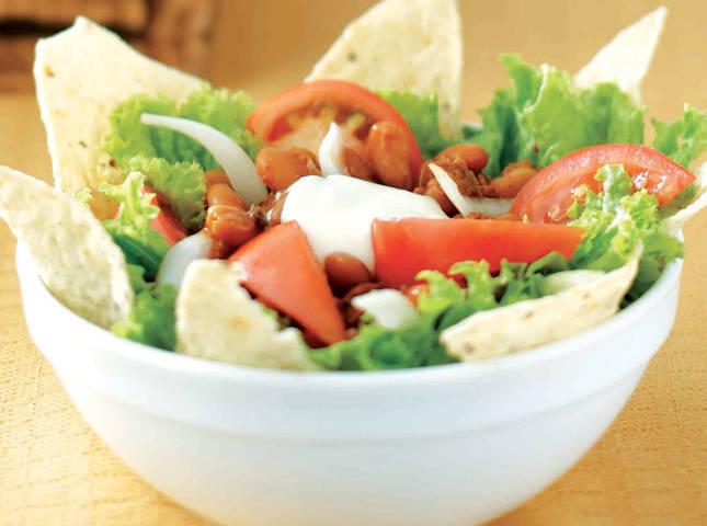 Nacho, Chili, and Bean Salad