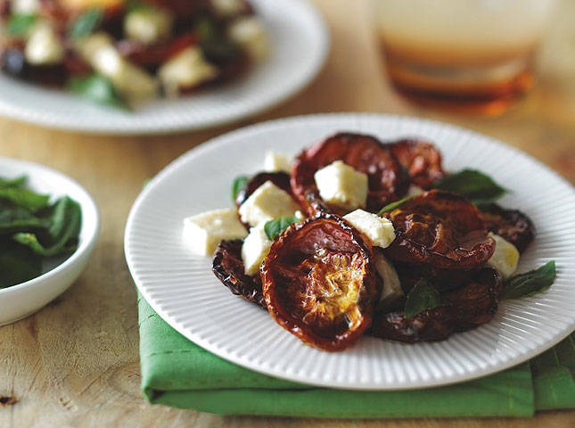 Roasted Tomato and White Cheese Salad