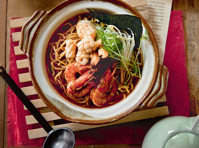 Korean Spicy Seafood Ramen