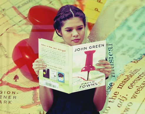 Girl reading Paper Towns