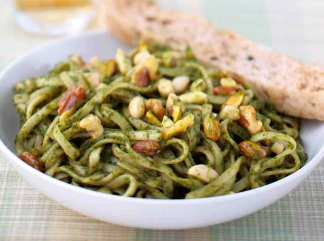 Nutty Pesto Pasta