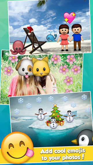 Kawaii Photo Editing App - Insta Emoji Photo Editor