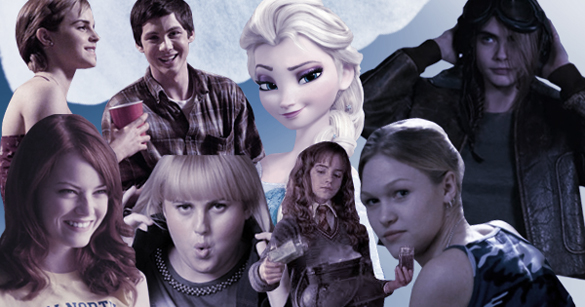 Emma Watson, Logan Lerman, Elsa, Cara Delevingne, Julia Stiles, Emma Watson, Rebel Wilson, Emma Stone