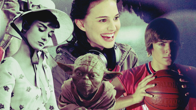 Audrey Hepburn, Natalie Portman, Yoda, Zac Efron