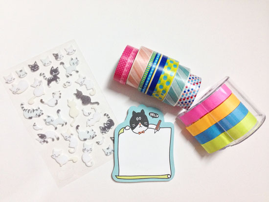 Washi tape and stickers