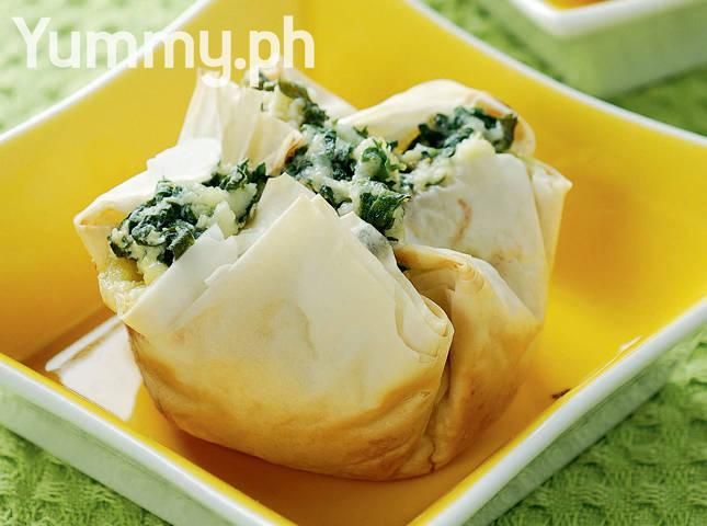 Spinach and Keson Puti Parcels