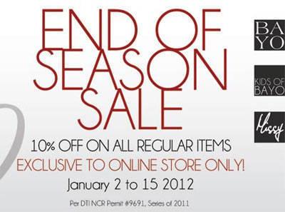 Bayo End of Season Sale