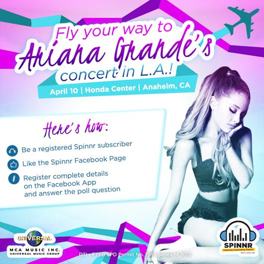 Spinnr's Ariana Grande Promo | Candymag.com