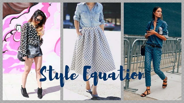 Style Equation: Polka Dots + Denim