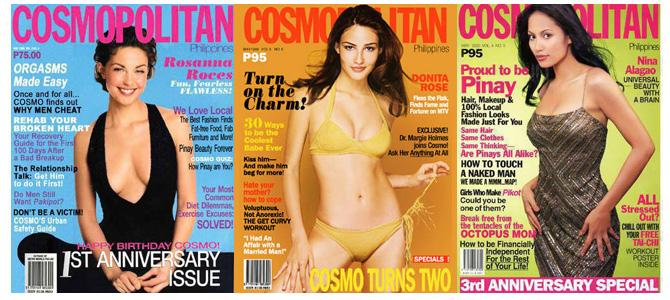 Cosmopolitan Anniversary Covers 1998-2000