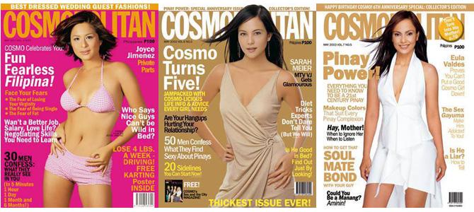 Cosmopolitan Anniversary Covers 2001-2003