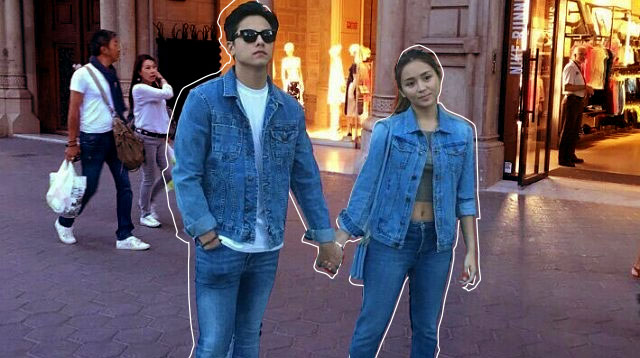 kathniel just twinned in barcelona because why not