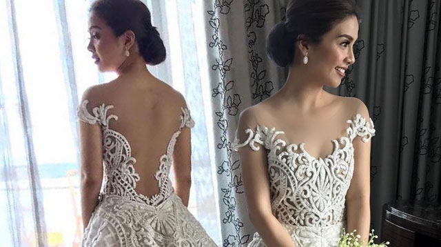 Kaye Abad Wore A Gorgeous Francis Libiran Gown To Her Wedding | Cosmo.ph