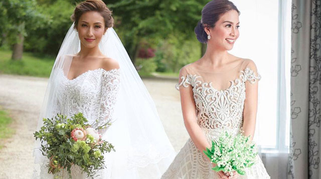 The most beautiful celebrity wedding dresses of 2016 cosmo the most beautiful celebrity wedding dresses of 2016 junglespirit Gallery