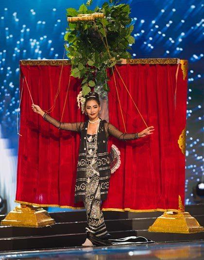Myanmar ganó el mejor disfraz nacional en Miss Universo en el 2016