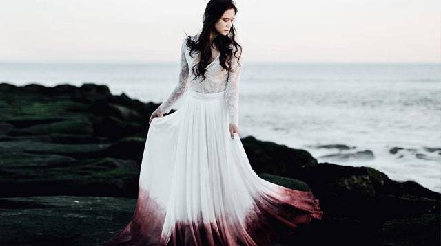 Ombre Wedding Dresses Are A Twist On Traditional White