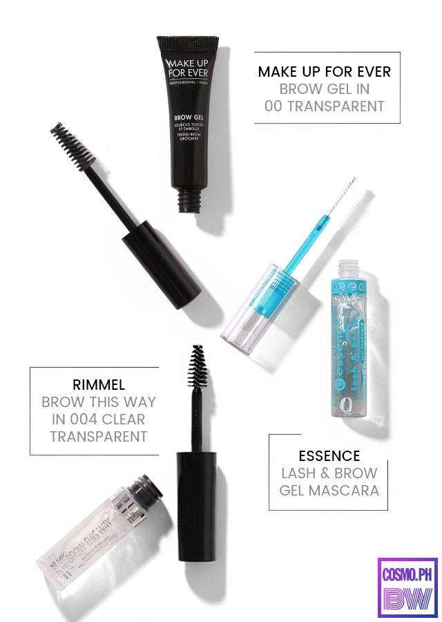 Clear eyebrow mascara