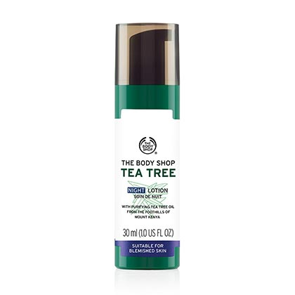 he Body Shop Tea Tree Blemish Fade Night Lotion