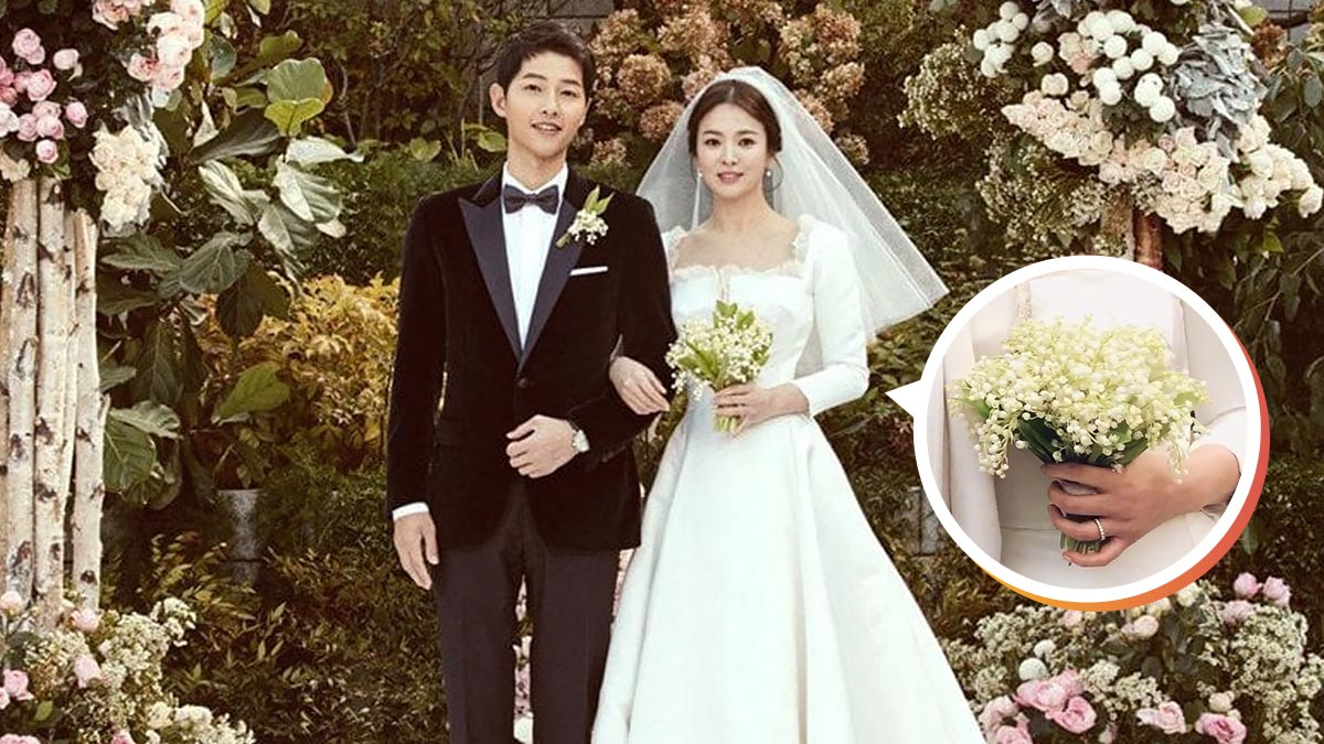song hye kyo s wedding bouquet