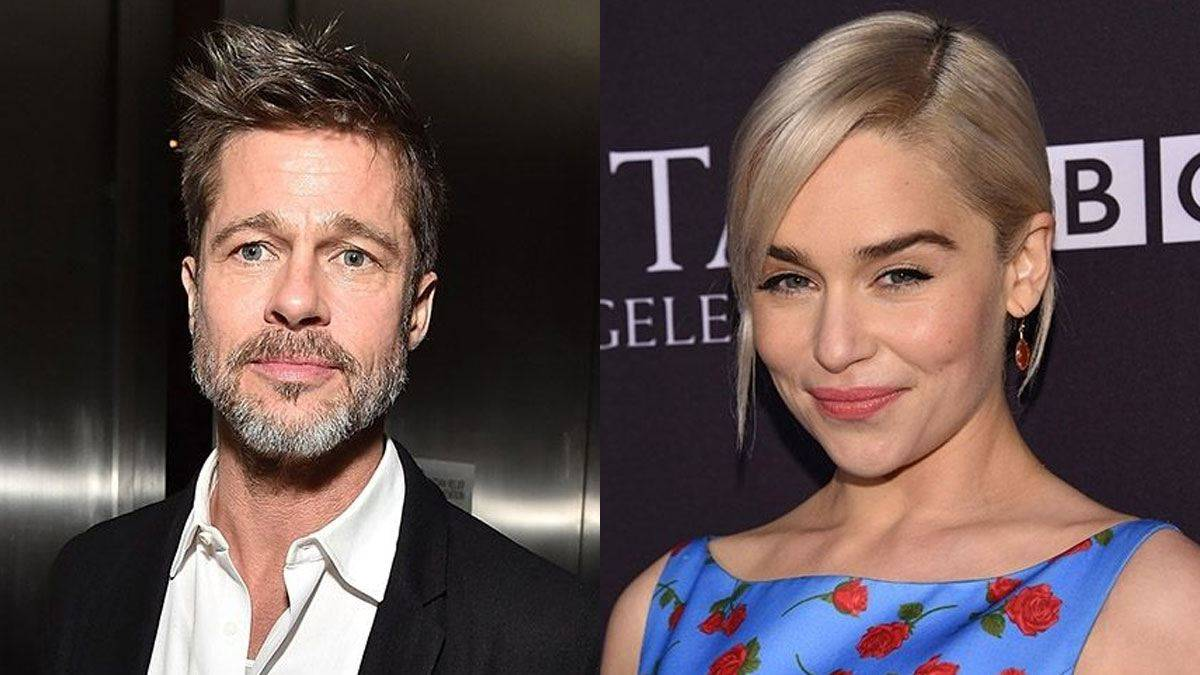Brad Pitt Bid 120,000 to Watch Game of Thrones' With Emilia Clarkebut Was Outbid foto