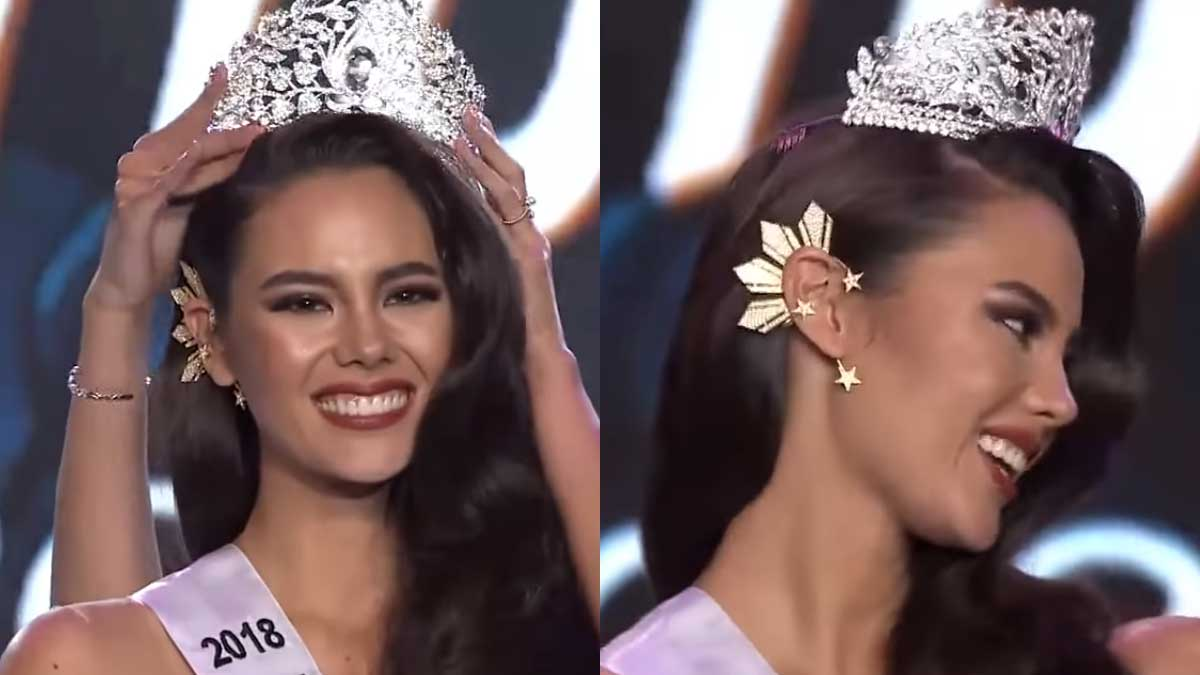 Image result for 3 stars and the sun earrings miss universe