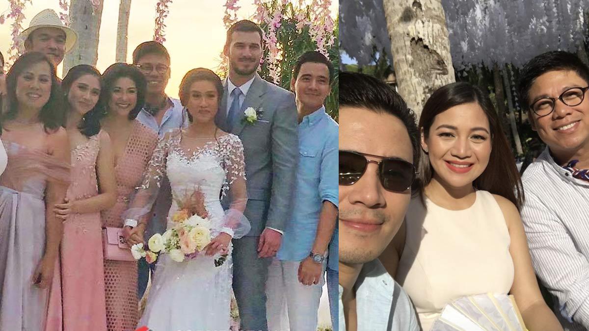 Celebrities At Rachelle Ann Go Martin Spies Boracay Wedding