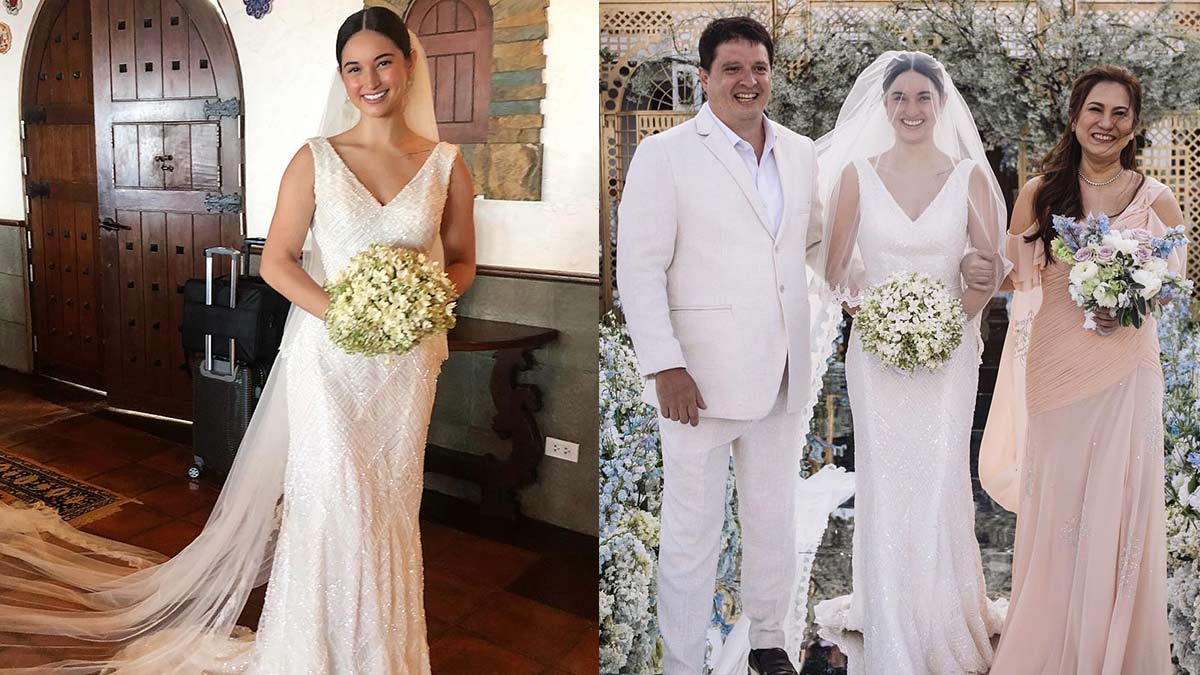Who has designed Coleen's wedding dress recommendations