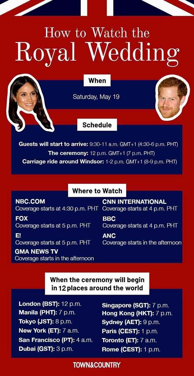 Where To Watch The Royal Wedding.How To Watch The Royal Wedding From The Philippines