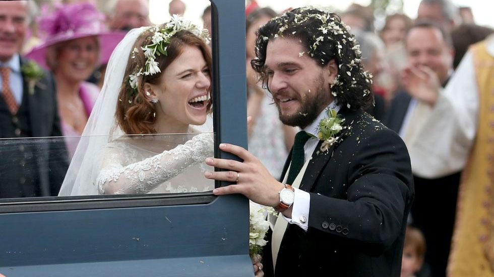 Kit Harington + Rose Leslie Look SO Gorgeous In Their Wedding