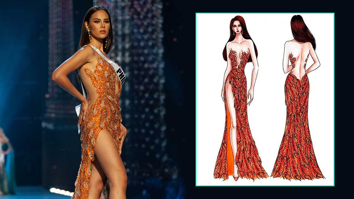 Mak Tumang Shared Sketches Of Catriona Grayu0026#39;s Miss Universe 2018 Gowns | Cosmo.ph
