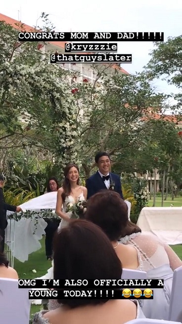 First Look At Kryz Uy And Slater Young S Wedding
