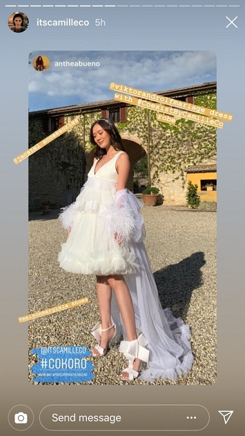 Camille Co And Joni Koro Had A Quiet Civil Wedding In October 2018,Elegant Knee Length Stunning Wedding Guest Dresses