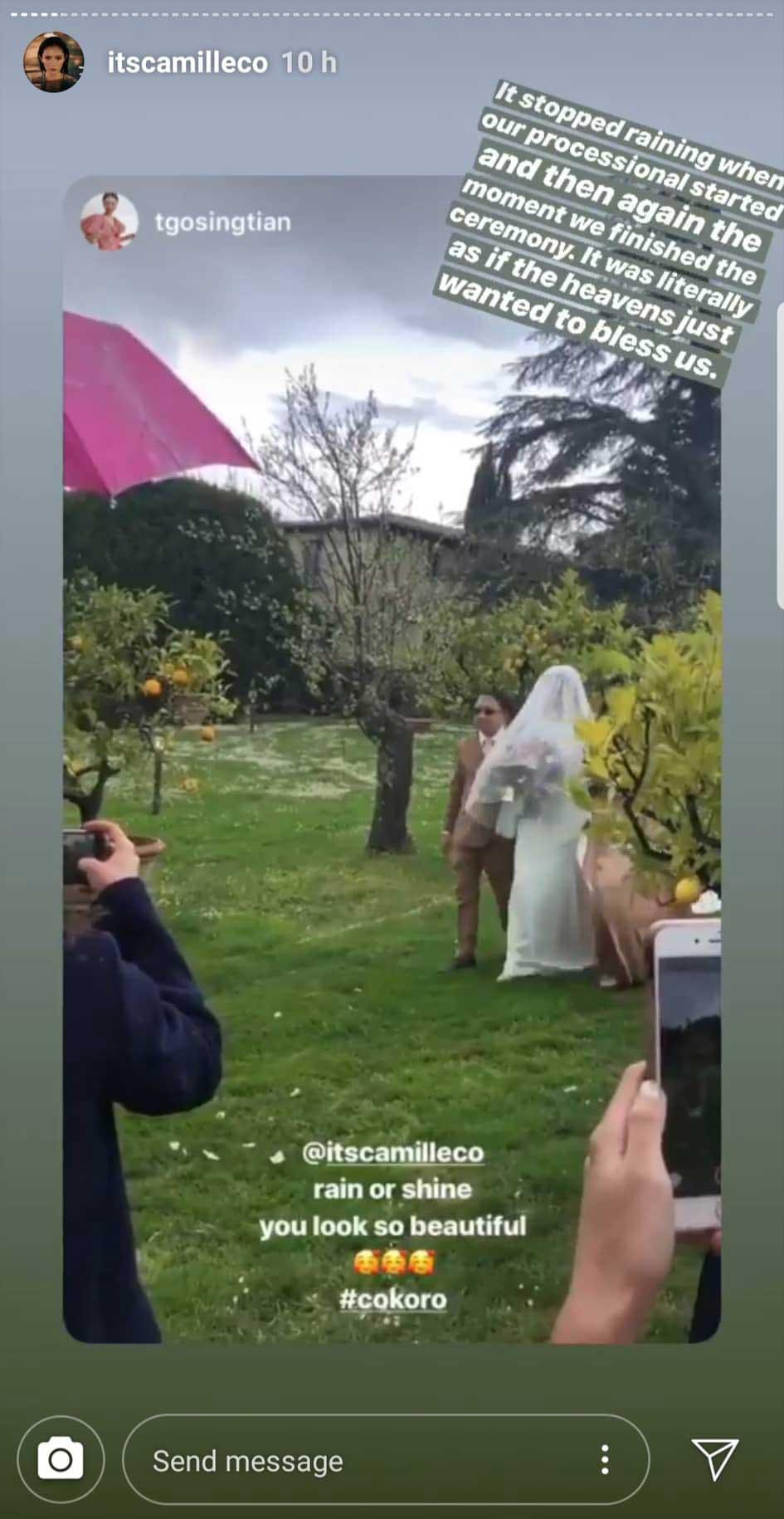 Camille Co And Joni Koro S Italian Garden Wedding,Elegant Knee Length Stunning Wedding Guest Dresses