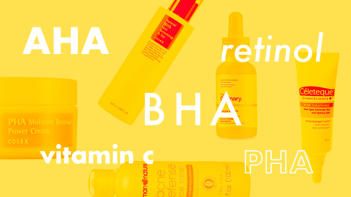 Guide To Skin Brightening Ingredients: AHA, BHA, PHA, Retinol, Vitamin C