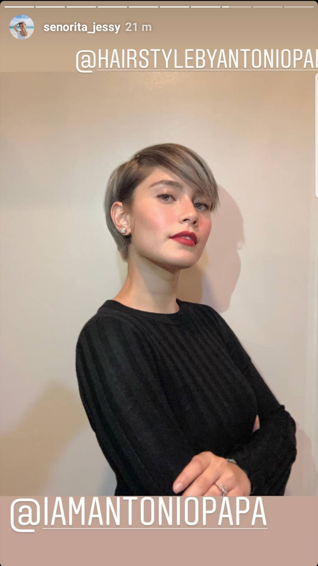 Jessy Mendiola S New Ash Blonde Pixie Hair
