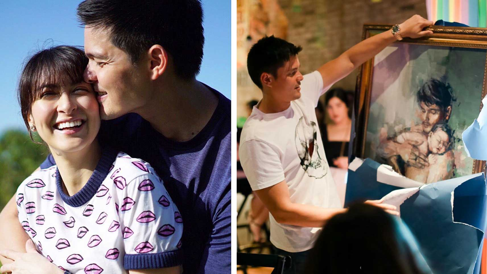 Marian Rivera Gives Dingdong Dantes A Painting Of Him With ...