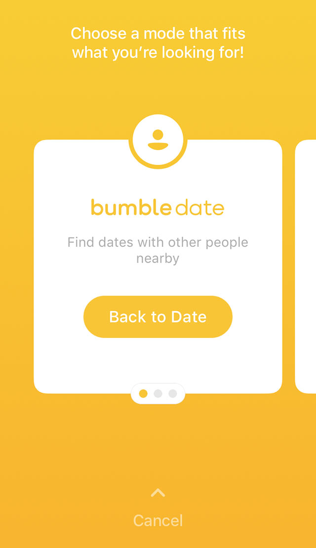 How to switch to bumble bff mode