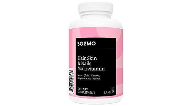 Best Hair vitamin: Solimo Hair, Skin & Nails Multivitamin