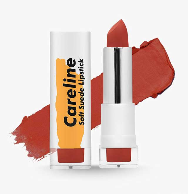 Careline Soft Suede Lipstick in Fire
