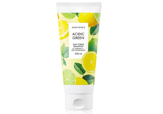 Scentence Acidic Green Salt Scrub Shampoo