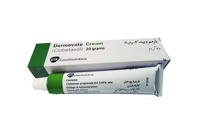 Dermovate cream and box