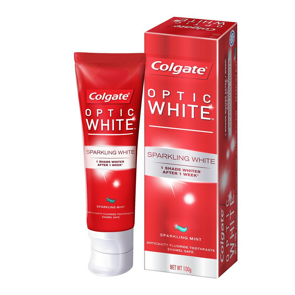 How to whiten teeth at home: Colgate Optic White Toothpaste