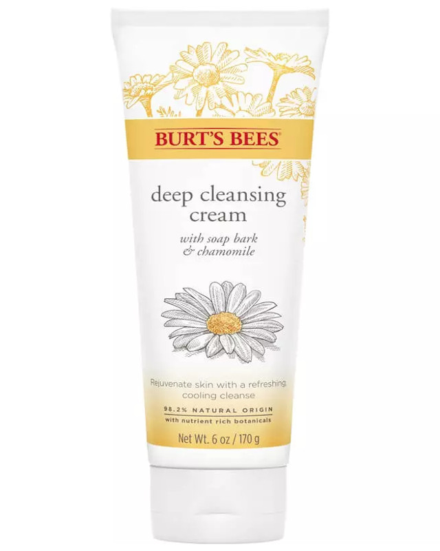 Best Sulfate-Free Facial Cleanser: Burt's Bees Soap Bark Chamomile Deep Cleansing Cream