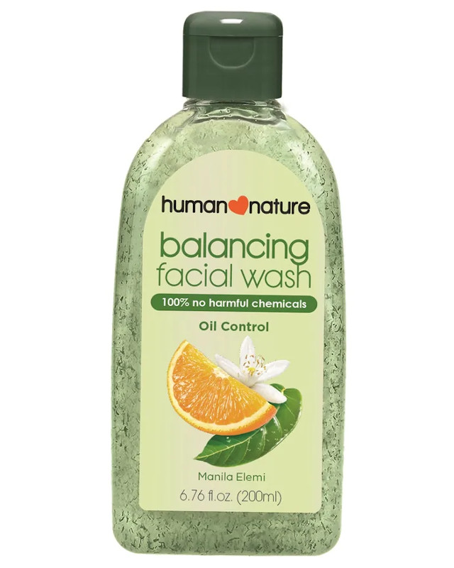 Best sulfate-free facial cleanser: Human Nature Balancing Facial Wash