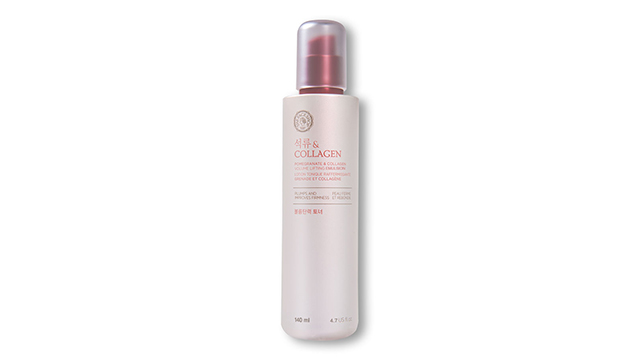 Best Collagen Products: The Face Shop Pomegranate and Collagen Volume Lifting Emulsion