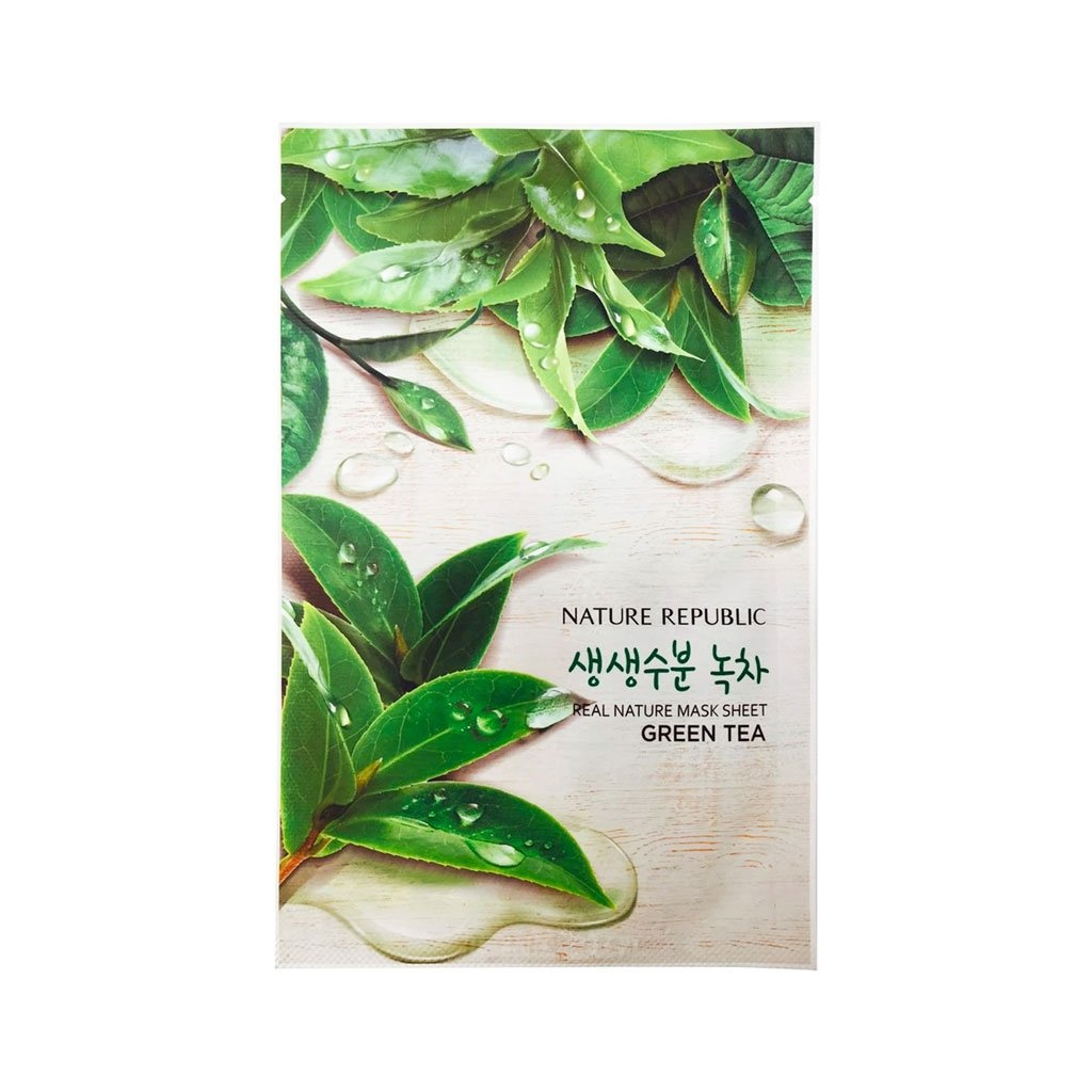 Best Green Tea-Infused Product: Nature Republic Real Nature Green Tea Mask Sheet
