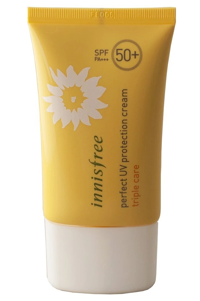 Korean Products To Save Your Skin From The Heat: Innisfree Perfect UV Protection Cream Triple Care SPF50+ PA+++