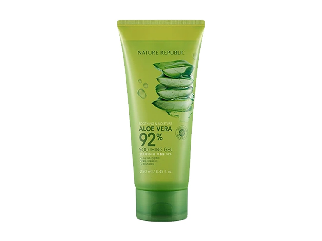 Korean Products To Save Your Skin From The Heat: Nature Republic Aloe Vera 92% Soothing Gel Tube