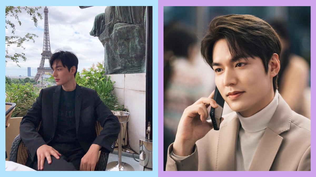 Side-by-side photos of Korean actor Lee Min Ho