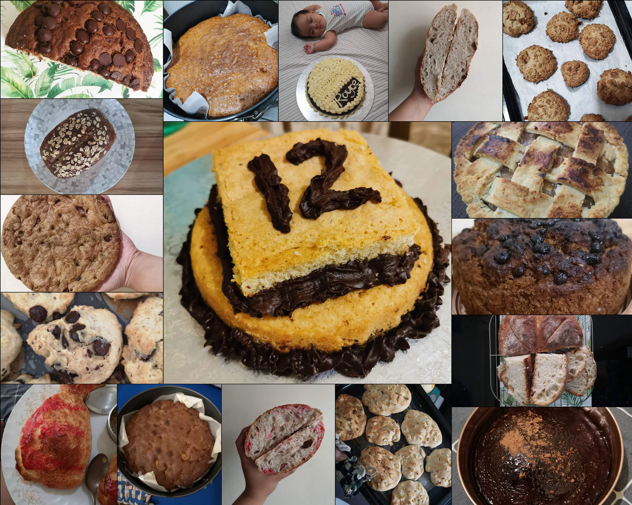 collage of 17 baked goods